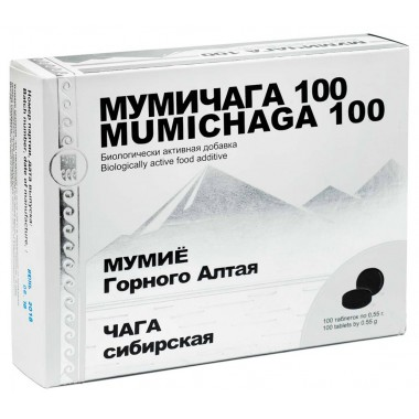 Мумичага 100 - комплекс гуминоподобных веществ мумия и чаги: описание, отзывы