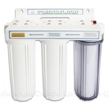 3-х ступенчатый фильтр для доочистки питьевой воды «Водолей-БКП»: описание, отзывы