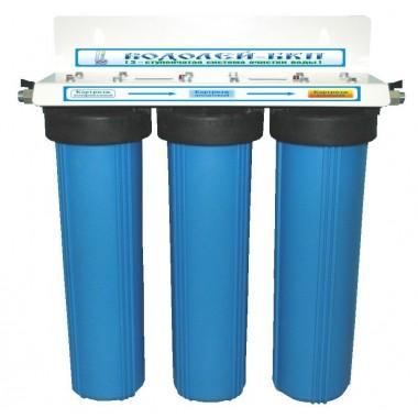 3-х ступенчатый высокопроизводительный фильтр для доочистки питьевой воды «Водолей-БКП» : описание, отзывы