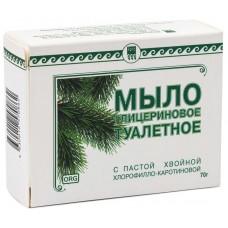 Мыло глицериновое Фитолон с пастой хвойной хлорофилло-каротиновой