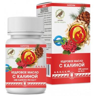 Кедровое масло с калиной (с витамином Е): описание, отзывы