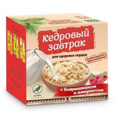 «Кедровый завтрак для здоровья сердца» с боярышником и амарантом: описание, отзывы