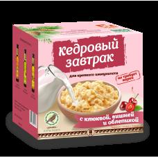 «Кедровый завтрак для крепкого иммунитета» с клюквой, вишней и облепихой