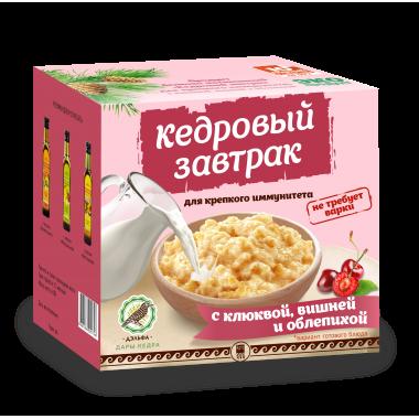 «Кедровый завтрак для крепкого иммунитета» с клюквой, вишней и облепихой: описание, отзывы