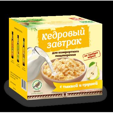 «Кедровый завтрак для комфортного пищеварения» с тыквой и грушей описание, отзывы