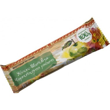 Батончик фруктовый Яблоко-шиповник-черноплодная рябина: описание, отзывы