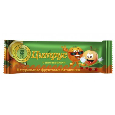 Фрутилад-Арго Цитрус с апельсином, батончик фруктово-ягодный: описание, отзывы