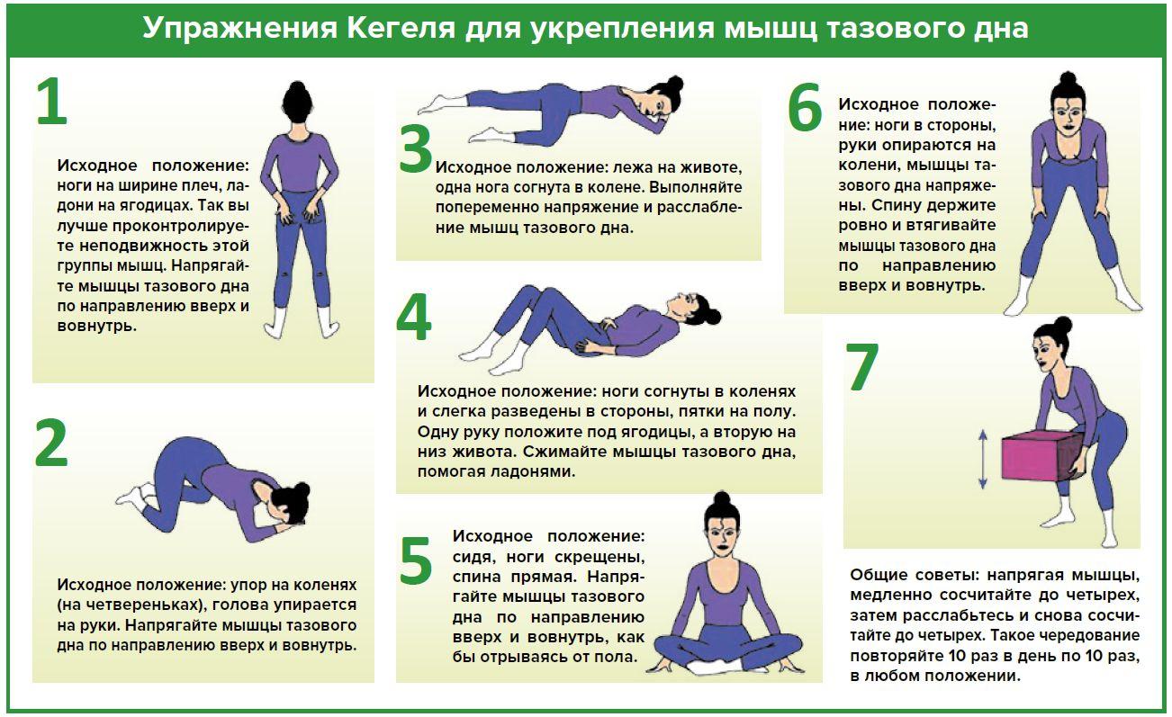 Упражнения для укрепления матки в картинках