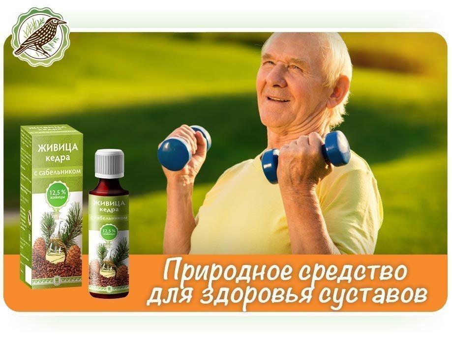 Живица кедра с сабельником – природное средство для здоровья суставов