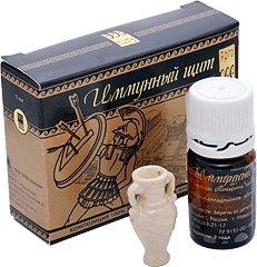 Купить Набор «Иммунный щит», аромамедальон + комплект 100% эфирных масел, цена