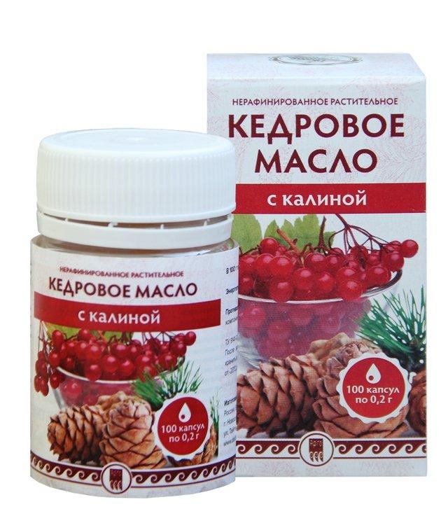 Купить Кедровое масло с калиной (с витамином Е) (код 0506), цена