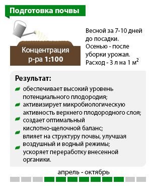 Схема «Подготовка почвы»